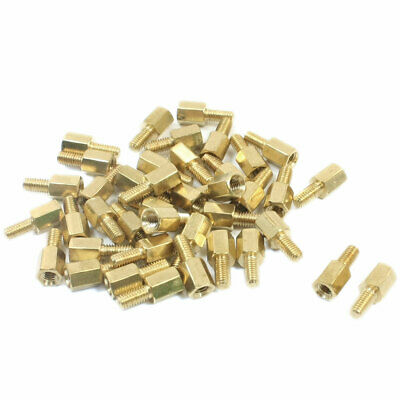 40Pcs Male Female Brass Pillar PCB Hexagonal Standoff Spacers M3 x 6mm x 12mm