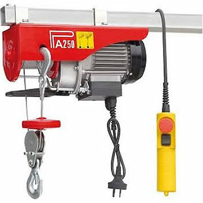 500W Electric Hoist Eu Standard Garage Load Bearer Lift Carry Engine Upto 250Kg