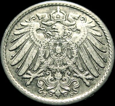 Germany - German Empire - German 1911A 5 Pfennig Coin - 104 Years Old - RARE