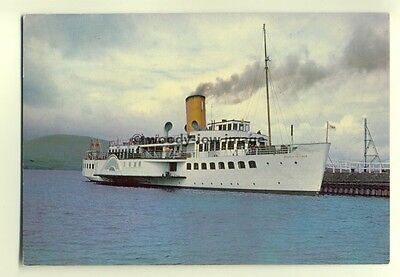 f13104 - Paddle Steamer - Maid of the Loch , built 1953 - postcard