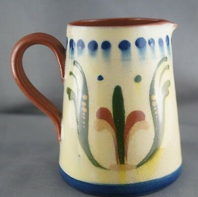 Vintage Watcombe Torquay Scandy Motto Ware Redware Cream Pitcher Jug