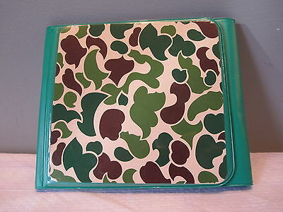 Nos Army Camouflage Vegan Portable CD Holder Organizer Bag DVD Album Pouch Car