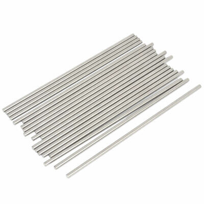 20 Pcs RC Airplane Model Part Stainless Steel Round Rods Axles Bars 3mm x 120mm
