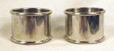2 Silverplate Napkin Rings Rollover Edge Classic Vintage