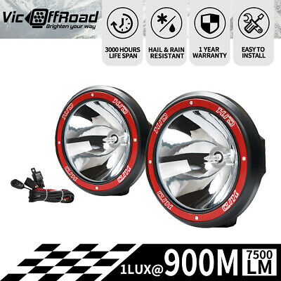 Pair 9inch 100w Lightfox Hid Xenon Driving Lights Spotlight Offroad Work Lights