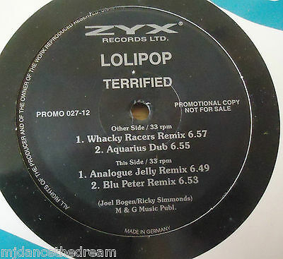 "LOLIPOP ~ Terrified ~ 12"" Single PROMO"