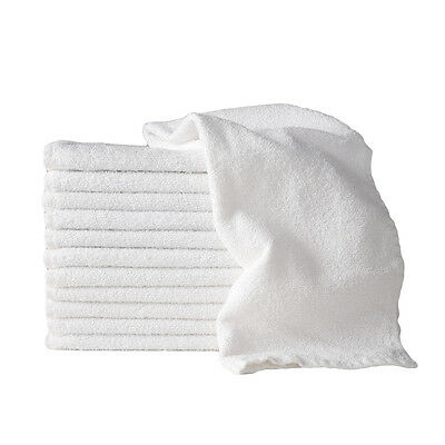 Sydney Salon Supplies 85g WHITE Towels 100% Cotton Hair/Barber/Beauty/Gym 40x67