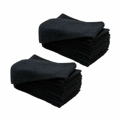 Sydney Salon Supplies 80g BLACK TOWELS 100% Cotton Hair/Barber/Beauty/Gym 40x67