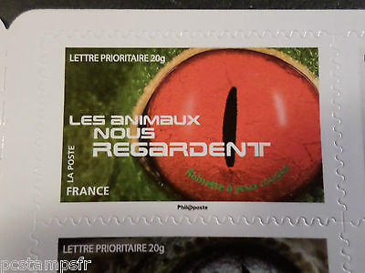 FRANCE 2015, timbre AUTOCOLLANT YEUX RAINETTE GRENOUILLE, neuf**, MNH FROG EYES