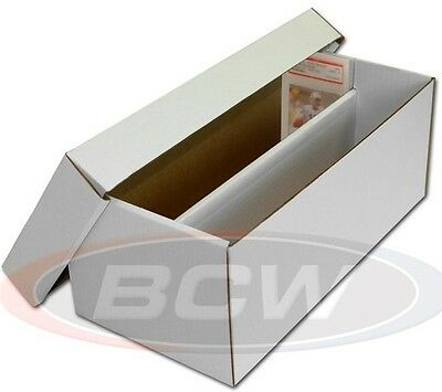 1 New Graded Card Cardboard Storage Box for Graded Cards w 10 Tall Card Dividers