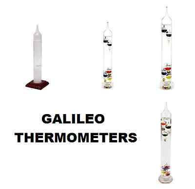 Galileo Thermometer 28Cm, 29Cm, 34Cm, 43Cm Multicoloured 4 Variations New, Boxed