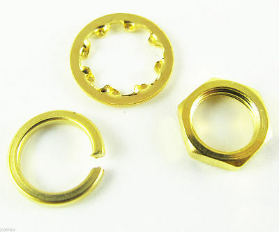 50 Sets Screw nut Three-piece a set for Standard SMA 1/4 - 36UNS-2B Gold Plated