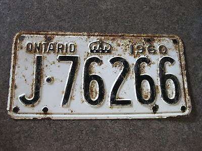 Licence Plate Ontario 1960