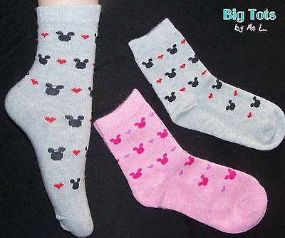 Adult Baby Mickey Mouse angora  Socks *Big Tots by MsL