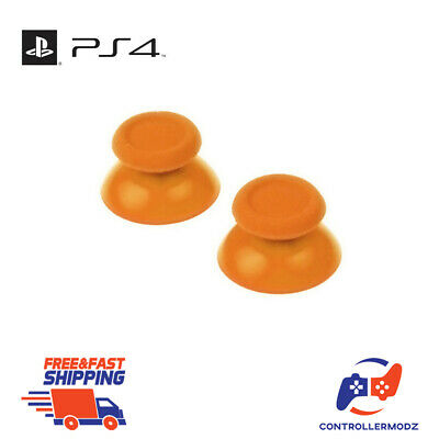 2 x Analogue Replacement Thumb sticks Grips Sony PS4 Analog Controllers - Orange