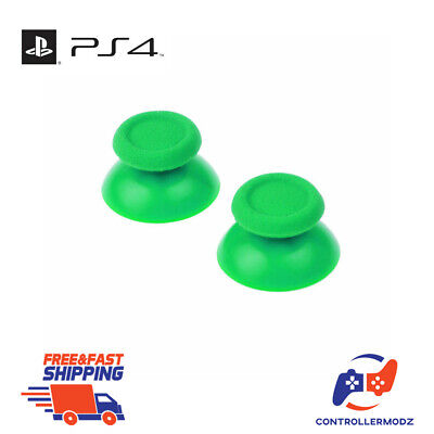 2 x Analogue Replacement Thumb sticks Grips Sony PS4 Analog Controllers - Green