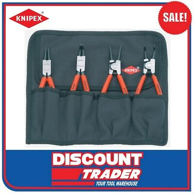 "GearWrench 4 Piece 7"" Fixed Tip Internal & External Snap Ring Plier Set 82150"