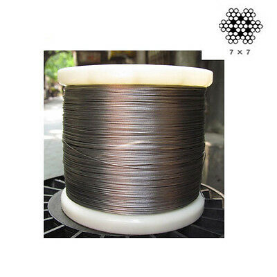 """0.8mm(1/32"""") Stainless Steel Cable Wire rope-500feet"""