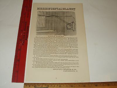 Rare Original VTG 1875 Morrison Dental Bracket Apparatus Advertising Art Print