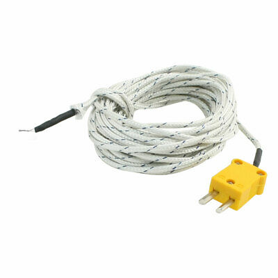 K Type Male Plug 0 to 250C Temperature Sensor Thermocouple 16.4Ft