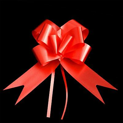 30mm Large 5 Pull Bow RED Ribbons Wedding Floristry Car Gift Decorations
