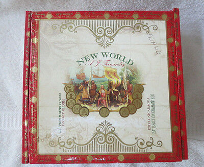 New World Fernandez Paper Covered Wood Cigar Box  - Beautiful !!!