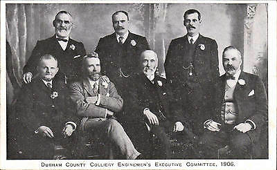 Durham County Colliery Enginemen's Executive Committeee 1906.