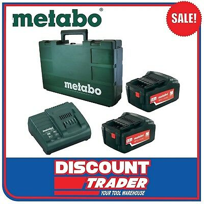 Metabo 18V 5.2Ah Lithium-Ion Starter Pack - Charger Batteries Case - MET625592