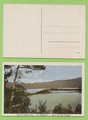 Portugal - Azores, Lake of Seven Cities, st Michaels postcard unused