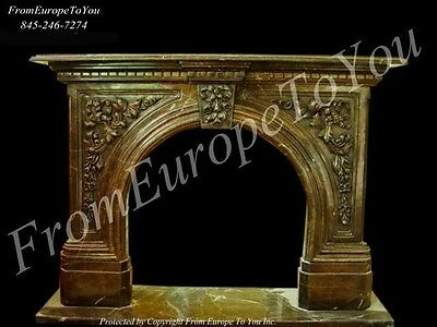 Beautiful Hand Carved Marble Fireplace Mantel Tle12-1