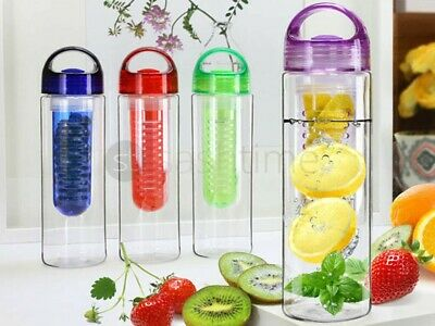 Fruit Infusion Infusing Infuser Drink Water Bottle Sports Gym Health Maker 700Ml