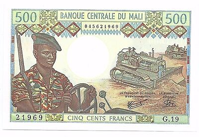 ND (1973-1984) Bank of Central Mali 500 Francs Banknote; P12e CU Uncirculated