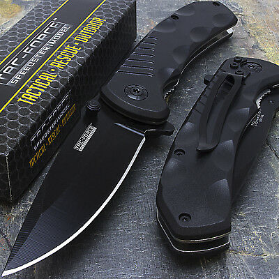 "8"" TAC FORCE EDC 440 STAINLESS SPRING ASSISTED TACTICAL POCKET KNIFE Blade"