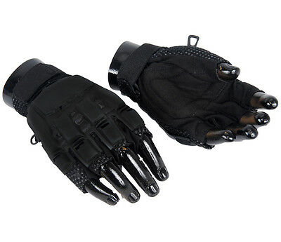 NEW UKARMS AIRSOFT TACTICAL MILITARY HALF FINGER CQB GLOVES Paintball Large