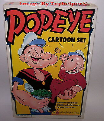 Popeye Cartoon Colorforms Adventure Play Set Unused Vintage