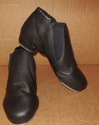 NEW/BOX Leather Gore Elastic Tap Boots ch/ladies sizes #3524 Black or tan Dance