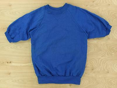 vtg usa made McGregor short sleeve sweatshirt LARGE blue raglan slim 80s