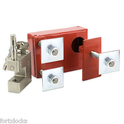 Shipping Container Lock Box *** Bolt On *** Ultimate Security *** Inc Fortx Lock