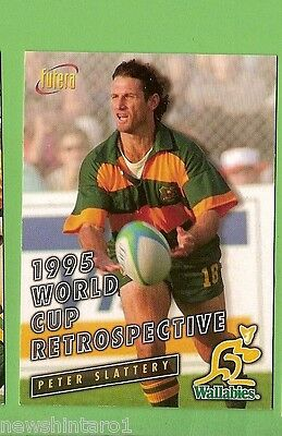 1996 Rugby Union  Card #98 Peter Slattery, Wallabies