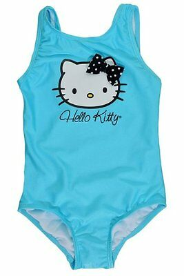 Hello Kitty Girls Swimming Costume One-Piece Swimsuit Blue Sizes 4, 5, 6 New NWT