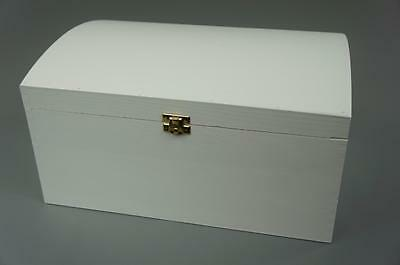 White X Large Treasure Chest Wooden Box Memory Box Trinket Gift So22Wh