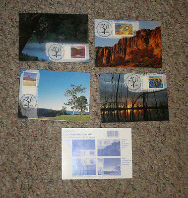 Australia Maxi Cards set of 4 AUSTRALIA DAY 1994 scenery Shoalhaven Heads