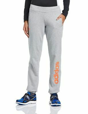 adidas Women's Essential Logo Cuffed Sweat Pants Trousers Track Bottoms Grey