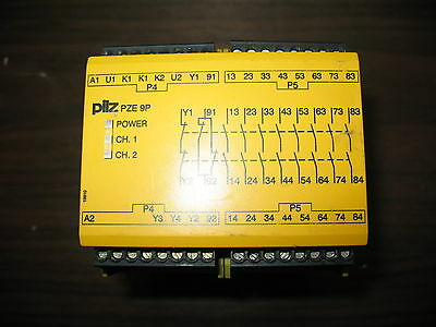 Pilz PZE 9P 24VACDC 8n/o 1n/c  Safety Relay