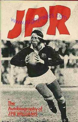 JPR WILLIAMS Bridgend L WELSH Wales & British Lions RUGBY BOOK - SIGNED to JACK