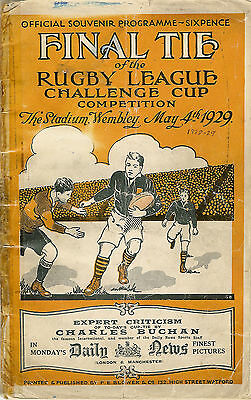 Dewsbury v Wigan First Wembley Final 4 May 1929 RUGBY LEAGUE PROGRAMME