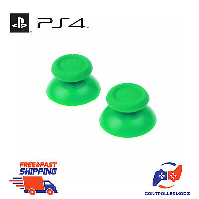 2 x Hardened Replacement Analogue Thumb Stick Grip For Sony PS4 - Green