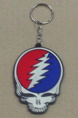 Grateful Dead Diecut Rubber Steal Your Face Key Chain Keychain