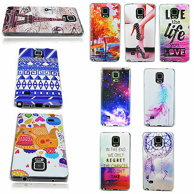 0.33mm Ultra Thin Soft Silicone Rubber Cover Case Skin For Samsung Galaxy Note 4