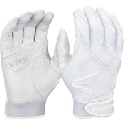 1 Pair Easton HF VRS Adult X-Small White / White Fastpitch Womens Batting Gloves